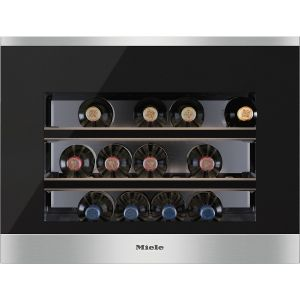 Miele KWT 6112 iG wijnkoeler Ingebouwd Zwart, Zilver 18 fles(sen) Thermo-elektrische wijnkoeler A+