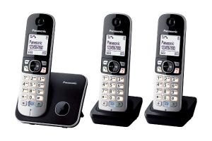 Telefoon Draadloos KXTG6813BLB Set 3 stuks
