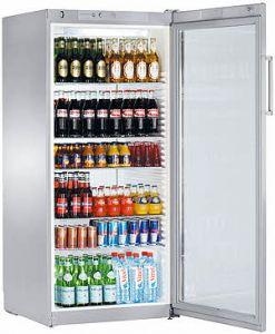 Flessen koelkast FKVSL5413-21 Zilver met glasdeur